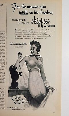 1954 Skippies Formfit bra girdle for woman insist on her Freedom ad