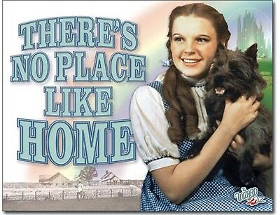 "Wizard of OZ Metal Tin Sign Theres No Place Like Home 16""x12.5"" Home Wall Decor"