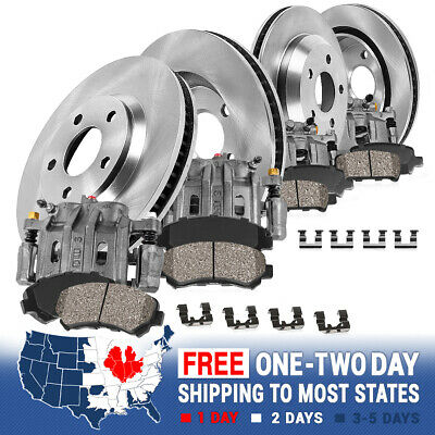 Front+Rear Brake Calipers /& Ceramic Pads For CHEVY IMPALA MONTE CARLO INTRIGUE