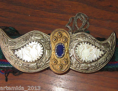 RARE ANTIQUE OTTOMAN ERA SILVER BELT BUCKLE 1850 s HAND MADE  Filigree