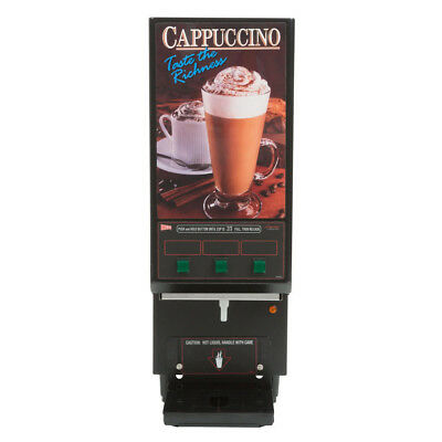Cecilware GB3CP Cappuccino Dispenser with 3 Hoppers - 120V New