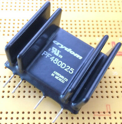 25A 660Vac Solid State Relay 4-15Vdc ZVS  SIP SSR 4kV Isolation Crydom PF480D25
