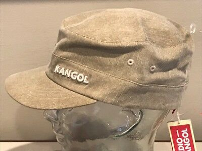 0fa9e65d1 KANGOL DENIM ARMY Cap Green Military Men's FlexFit L/XL Fitted Hat Cap NEW