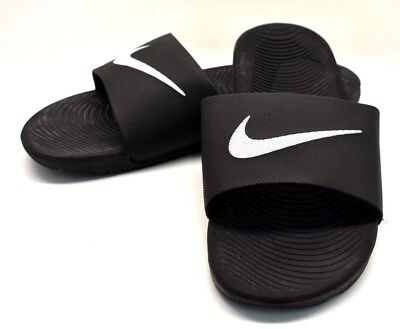 d30cf9659 Nike Kawa Slides Sandals Black   White US Size 12 - FREE SHIPPING - BRAND  NEW