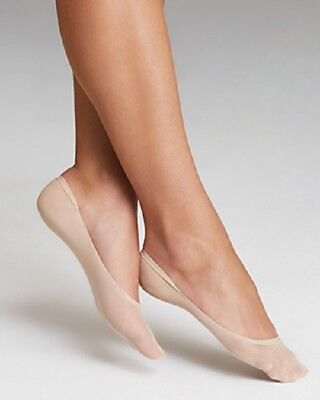 Wolford Women Nylon Socks Sz M Skin Color Footsies Seamless Toe liner 41515