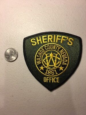 Washoe County Nevada Sheriffs Office Police Patch Nv
