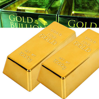 Fake Gold Bar Bullion Door Stop Paperweigh Simulation Table Decor Office Toy