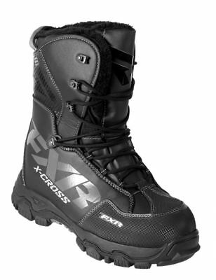 FXR X Cross Lace-Up Snow Boots Black Ops 42 EUR