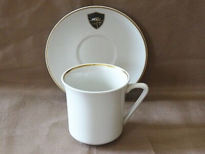 Vintage Western Airlines Small Cup & Saucer Gold Trim With Wally Bird Mascot Exc