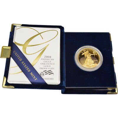 2008-W American Gold Eagle Proof 1 oz $50 in OGP