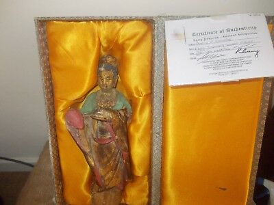 MING DYNASTY STUCCO FIGURE with certificate