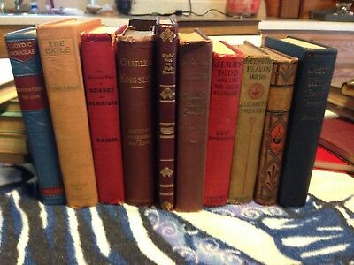 7 ~MIXED COLORS old/vintage/antique Authentic~  Staging ~Books