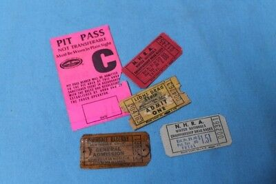 Rare! 1960s AHRA Lions Irwindale Drag Strip Drag Racing Ticket Lot NHRA