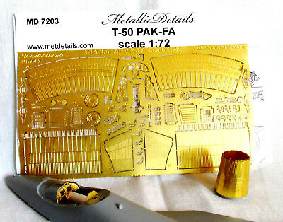 Detailing set for aircraft T-50 PAK-FA   1/72 Metallic Details # 7203