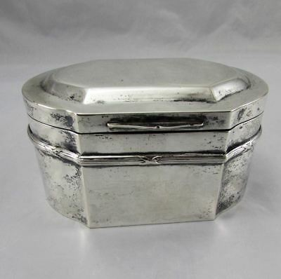 Antique Georgian Old Sheffield Silver Plate & Gold Washed Tea Caddy