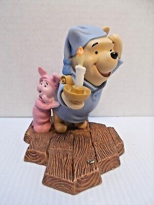 """Disney Pooh And Friends """"May Friendship Always Light Your Way"""" Piglet Figure c"""