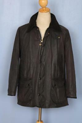 Mens BARBOUR Bedale Waxed Jacket Black Size 40