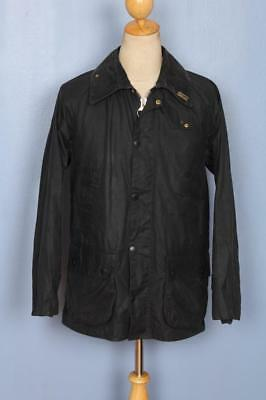 Mens BARBOUR Bedale Waxed Jacket Navy Size 38