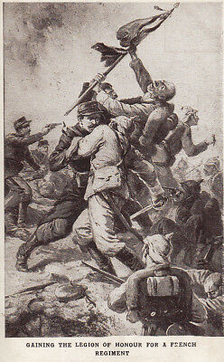 WW1 Capture of the colours of the 28th Regiment of German Infantry c1916