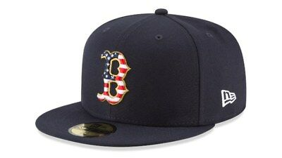 Boston Red Sox New Era 59FIFTY 2018 Stars and Stripes 4th of July Fitted Cap NWT