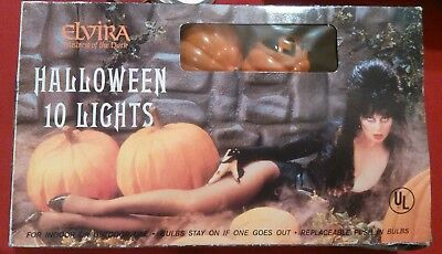 Elvira Mistress Of The Night Halloween Pumpkin Lights.(Never Used)