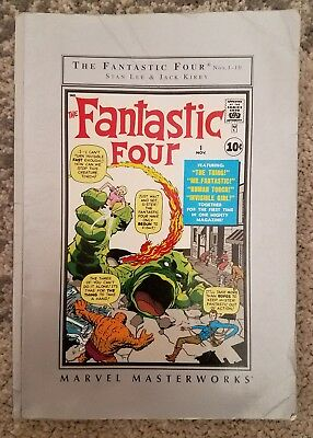 Marvel MasterWorks The Fantastic Four Vol 1 Soft Cover Barnes & Noble Edition GD