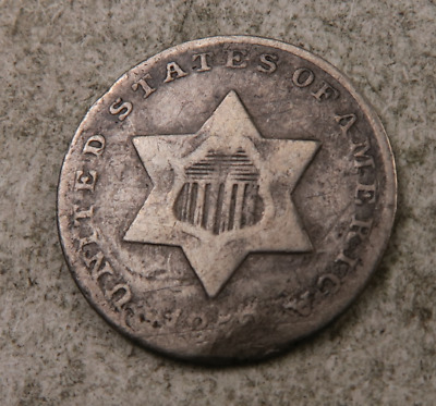 1852 Silver Three Cent Coin (3 Cent) // (ST901)