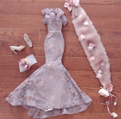 """Evangeline Ghastly 18"""" Doll Lavender Lace Gown - 'gothic Rose' - Beautiful"""