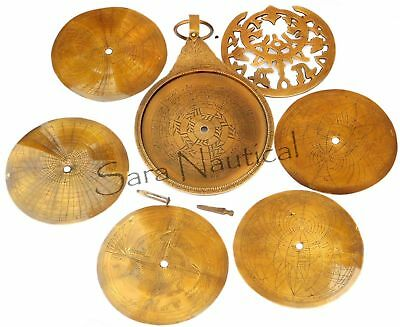 18'' Vintage Antique Brass Persian Ottoman Astrolabe Arabic Islamic Navigation
