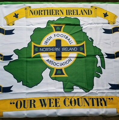 "Irish Footbal Association Northern Ireland ""Our Wee Country"" Large Flag 3' x 5'"