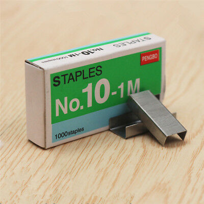 1000pcs SIZE NO 10 Staples Box for Desktop Stapler Normal Staples Metal Tapetool