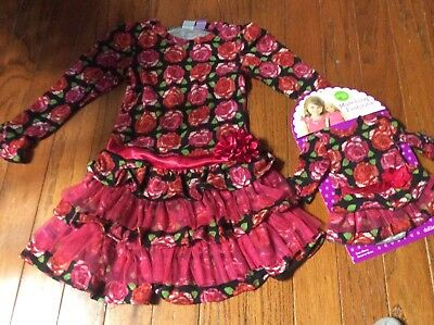 Dollie and Me Girls Dress Size 6 with Matching Doll Outfit NWT