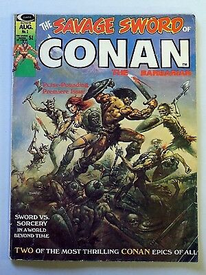 THE SAVAGE SWORD OF CONAN THE BARBARIAN Issue No. 1 Curtis Comic August 1974