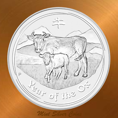 RARE: 1 oz. 999 Silver ... 2009 Lunar Year of the Ox ... 300,000 Mintage