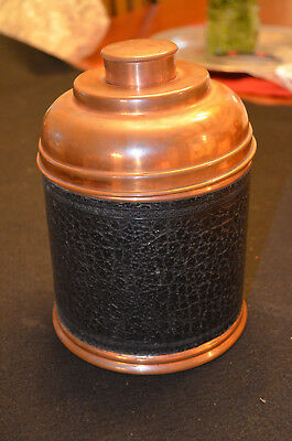 Vintage Copper Rumidor Humidor for Tobacco with Original Instructions