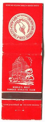 THE NEW YORK ATHLETIC CLUB in NEW YORK CITY - Vintage Used Matchbook