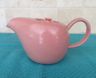 Russel Wright Plastic Ideal Children's Toy Coffeepot or Teapot with Lid Coral