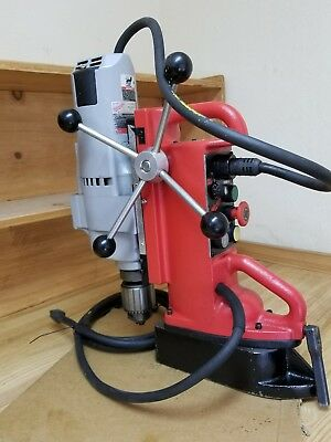 Milwaukee Magnetic Electromagnetic Drill Press 4203 Base & 4292-1 Drill Motor.