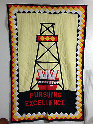 "VTG Western Oil Derrick Supply Company ""Eddie Chiles"" Fort Worth Texas Quilt"