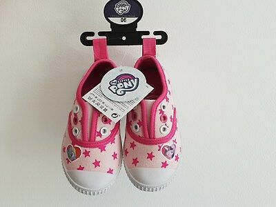 Girls My Little Pony Slip On Canvas Shoes 60258 - New with Labels & Packaging