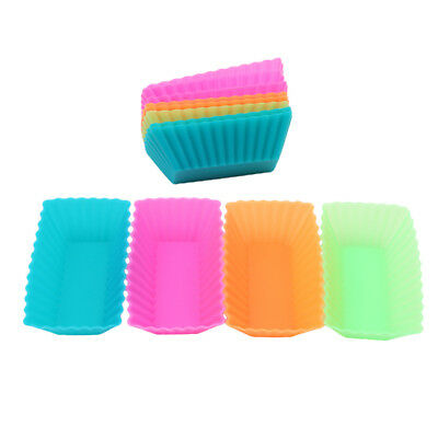 12Pcs Silicone Cake Muffin Chocolate Cupcake Liner Baking Cup Cookie Mold 6A