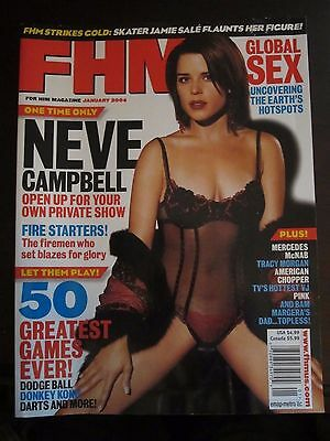 FHM Magazine Neve Campbell January 2004 No Label (r)