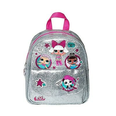 LOL Surprise Doll Backpack - Silver Glitter, Measures 10""