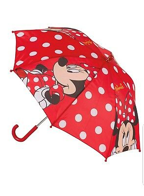 Disney Minnie Mouse Childrens Umbrella 65cm Red - New with Labels & Packaging