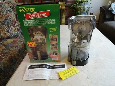 1997 Money Wrapper USA Motorized Coin Bank - Sorts, Stacks, Counts