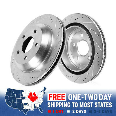 Rear Drilled Slotted Brake Rotors 2010 2011 2012 2013 2014 Volvo XC60