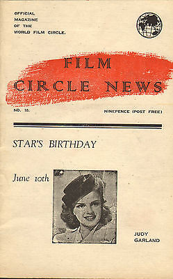 film circle news . number 10 .judy garland on the front