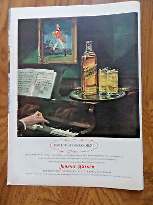 1945 Johnnie Walker Scotch Whiskey Whisky Ad 1945 Veedol Motor Oil Ad