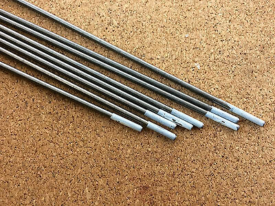 2.4mm x 150mm White Tungsten 0.8% Zr Zirconiated AC Tig Welding Electrode