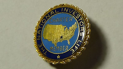 National Investors Life Charter Member Pin 10k Gold Stamped 3g Insurance Company